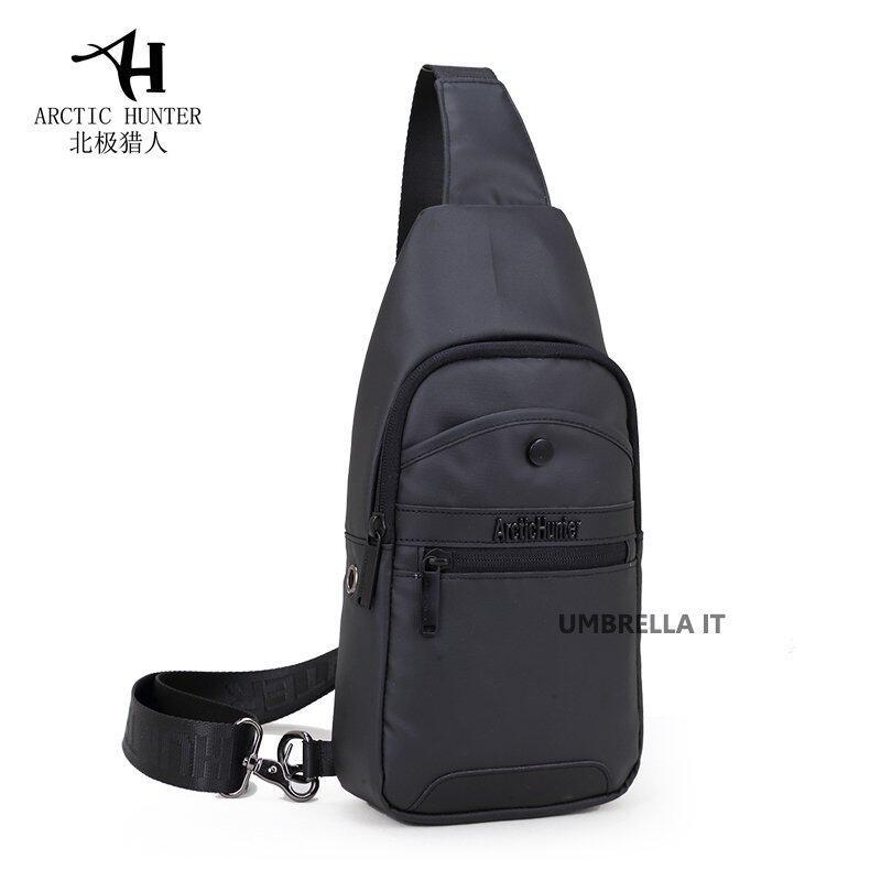 Arctic Hunter กระเป๋าสะพายข้าง พาดลำตัวสีดำ ผู้ชาย รุ่นXB13001 (สีดำ)