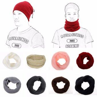 Areeya@Shop ผ้าพันคอไหมพรม ผ้าพันคออุ่น Scarf-P01- Cream