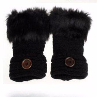 Areeya@Shop ถุงมือ ถุงมือแฟชั่น ถุงมือกันหนาว WSM/Glove-3-Black