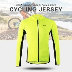 Arsuxeo Outdoor Sports Cycling Jersey Bike Bicycle Full Zip Long Sleeve Shirt MTB Bike Riding Clothing Jersey - intl