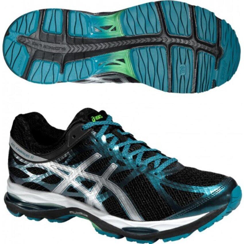 Asics Men Running Shoes รองเท้าวิ่งผู้ชาย GEL-CUMULUS 17 LITE-SHOW-BLACK/SILVER/OCEAN DEPTH
