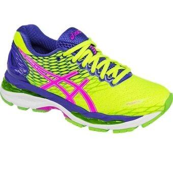 ASICS Women Running รองเท้าวิ่งผู้หญิง GEL-NIMBUS 18 #T650N.0735(FLASH YELLOW/PINK GLOW/BLUE)