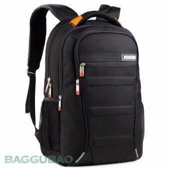 กระเป๋าเป้ สะพายหลัง ชาย หญิง Laptop 12-15 นิ้ว กันซึมน้ำ รุ่น AS-B06 - Gray/orange