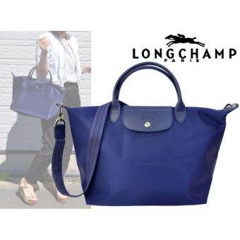 Harga Authentic Longchamp Made In France Neo Series Bag Small Size 1512Navy