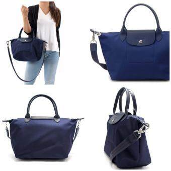 Authentic Longchamp Made In France Neo Series Medium Size NavyColor 1515