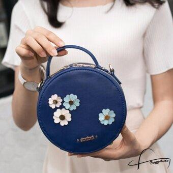 ต้องการขาย AXIXI กระเป๋าสะพายแฟชั่นสตรีทรงกลม รุ่น Florence สีน้ำเงิน