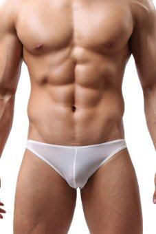 AZONE Men Mini Boxer Briefs Underwear Pouch Bikini Boxers (White) - Intl