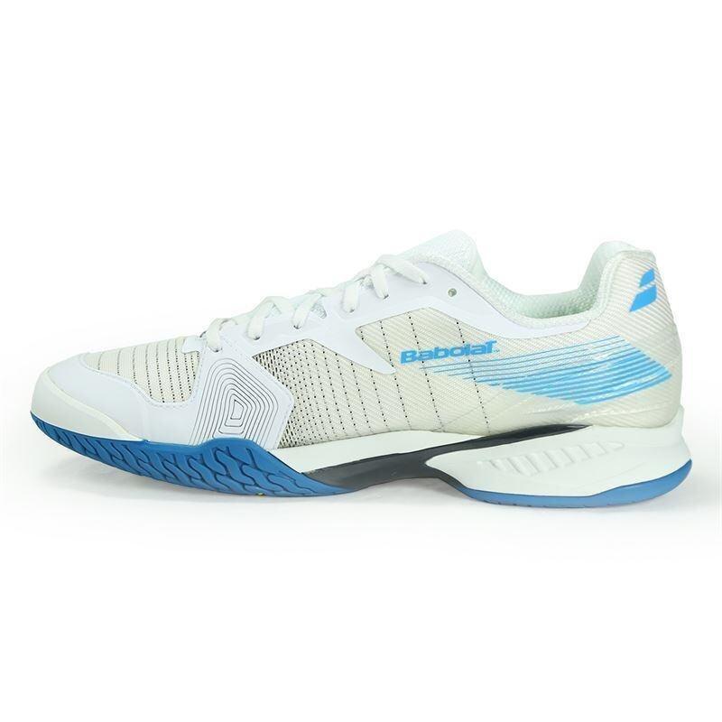 Babolat รองเท้าเทนนิส JET ALL COURT M (WHITE/BLUE/สีขาว/สีฟ้า)