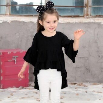 Baby Girls Clothing Ruffled Cotton Outfits Top Blouse PrettyElegant Princess Clothes - intl