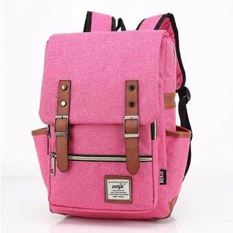 กระเป๋าสะพายหลัง กระเป๋าเป้เดินทาง กระเป๋าโน๊ตบุ๊ค กระเป๋าเป้เท่ๆ Backpackรุ่น BP-01 - สีชมพู
