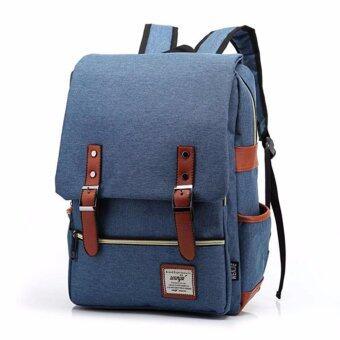 กระเป๋าสะพายหลัง กระเป๋าเป้เดินทาง กระเป๋าโน๊ตบุ๊ค กระเป๋าเป้เท่ๆ Backpackรุ่น BP-01 - สีน้ำเงิน
