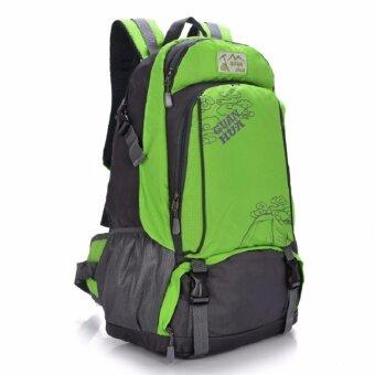 """Bag Fashionกระเป๋าเป้ผู้ชาย Backpack กระเป๋าเป้สะพายหลัง ผ้าไนลอนน้ำหนักเบา ( สีเขียว) รุ่น 129"""""""