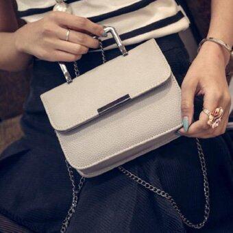 กระเป๋าถือแฟชั่น พร้อมสะพายข้าง รุ่นxm (สีขาว)