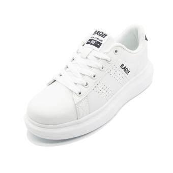 Baoji รองเท้าผ้าใบ แฟชั่น ลำรอง รุ่น BJW229-สีขาว/ดำ