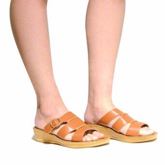(SUMMER) BATA COMFIT รองเท้าผู้หญิงแตะลำลอง COMFIT LEATHER สีน้ำตาล รหัส 6613389