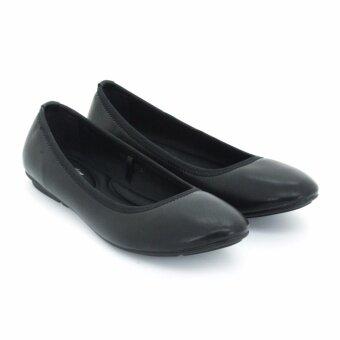 BATA รองเท้าแฟชั่นผู้หญิงคัชชูส้นเตี้ย LADIES'CASUAL BALLERINA สีดำ รหัส 5516231