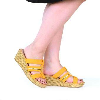 BATA รองเท้าแฟชั่น ผู้หญิง ส้นเตารีด LADIES'CASUAL WEDGE สีเหลือง รหัส 7613394