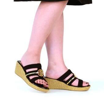 BATA รองเท้าแฟชั่น ผู้หญิง ส้นเตารีด LADIES'CASUAL WEDGE สีดำ รหัส 7616394