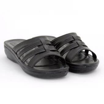 BATA รองเท้าผู้หญิงแตะลำลองแบบสวม เปิดส้น LADIES'SUMMER SANDAL สีดำรหัส 6616676 - 2