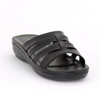 BATA รองเท้าผู้หญิงแตะลำลองแบบสวม เปิดส้น LADIES'SUMMER SANDAL สีดำรหัส 6616676 - 3