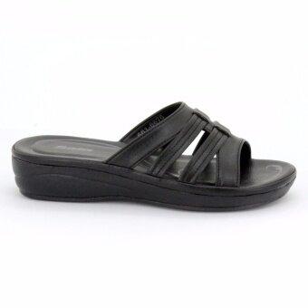 BATA รองเท้าผู้หญิงแตะลำลองแบบสวม เปิดส้น LADIES'SUMMER SANDAL สีดำรหัส 6616676 - 4