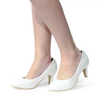 BATA รองเท้าผู้หญิง คัชชูส้นสูงทรง PUMP LADIES'HEELS PUMP CONTEMP สีขาว รหัส 7511481