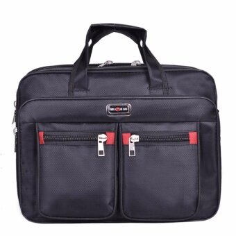 BB กระเป๋าสะพาย สำหรับใส่เอกสารและโน๊ตบุ๊ค รุ่น 088 (สีดำ)