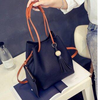 BB กระเป๋าสะพาย กระเป๋าสตางค์ เซตกระเป๋า 2 ใบ (สีดำ) รุ่น 8020