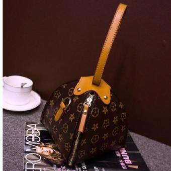 กระเป๋าคล้องแขน กระเป๋าถือ ทรงขนมจีบ (สายสีน้ำตาล) รุ่น018
