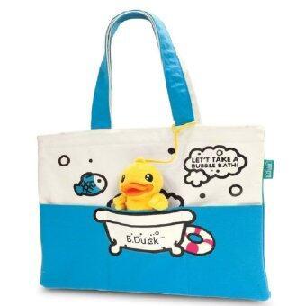 B.Duck Tote Bag กระเป๋าสะพายข้างน้องเป็ด (สีฟ้า) ลิขสิทธฺ์แท้