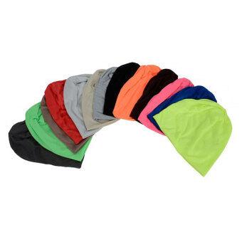 เพศ Beaniesฝ้ายปั่นซีเกมส์อุ่นฤดูเทศกาลสวมหมวกสีทึบสวมหมวกสวมหมวกสีดำ - 2