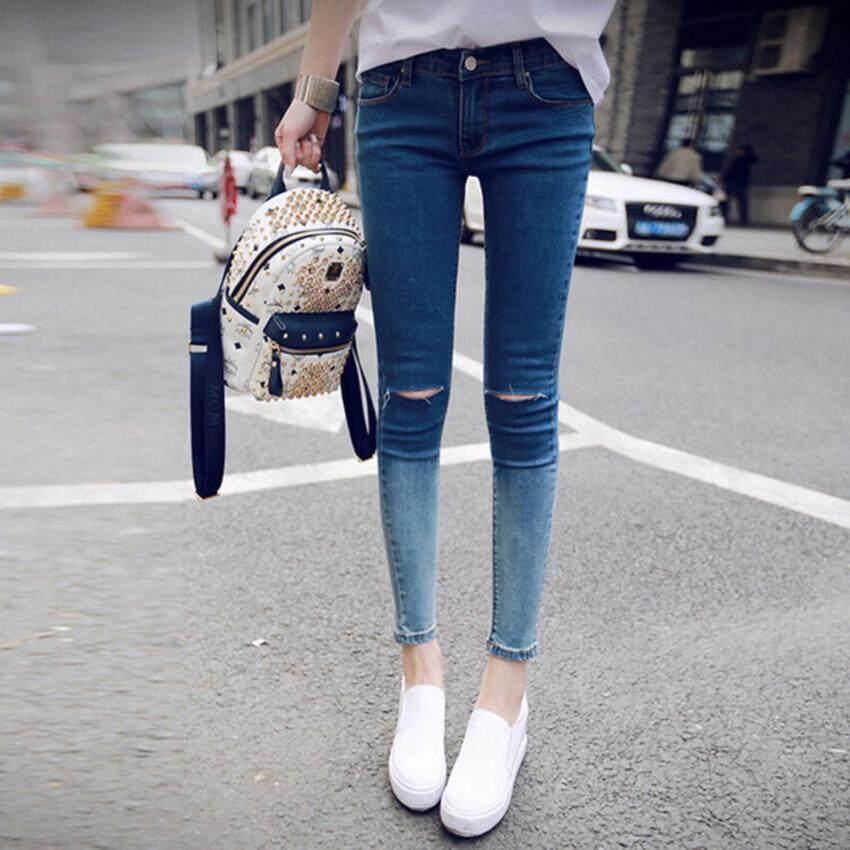 Beauty Jeans กางเกงยีนส์ขายาว กางเกงยีนส์เอวสูง กางเกงยีนส์ผู้หญิง รุ่น LJ-035