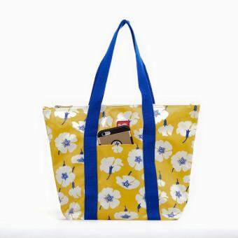 สนใจซื้อ BEGINS กระเป๋าสะพาย กันน้ำ พิมพ์ลาย อเนกประสงค์ MultipurposeShoulder Bag - สีเหลืองลายดอกไม้