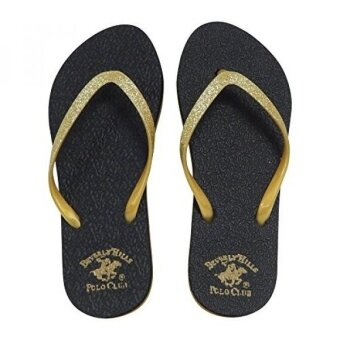 Beverly Hills Polo Club Sizzle Womens Glitter Sparkle Flip Flop Sandal Thong (8 US Gold) - intl