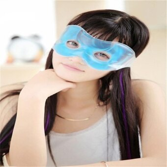 Blue Gel Filled Eye Hot Cold Mask Soothing Relaxing Headche ReliefCold Cooling - intl