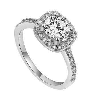 Bluelans® 9กิโลไบต์แหวนแต่งงาน (ขาวทอง)