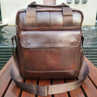 รีวิว BOGESI กระเป๋าสะพายแบบมีหูหิ้ว หนังแท้ รุ่น K502 - 1(สีน้ำตาล)