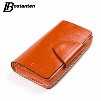 Harga BOSTANTEN Real Genuine Leather Women Wallets Brand Designer HighQuality Cell phone Card Holder Long Lady Wallet Purse Clutch