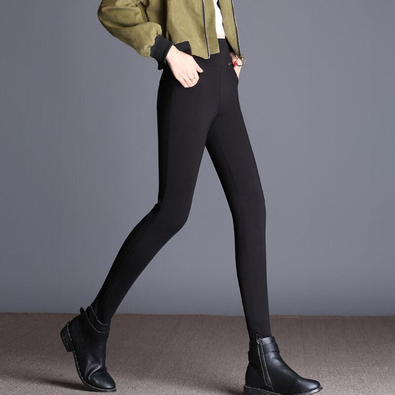 หนาหญิงใหม่เอวสูง bottoming กางเกง (บริสุทธิ์สีดำ [กางเกง])