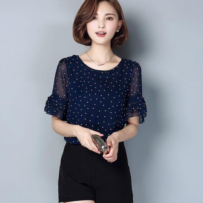 หลวมเกาหลีใหม่หลาใหญ่แขนสั้นเสื้อ bottoming เสื้อขนาดเล็ก (สีขาว)