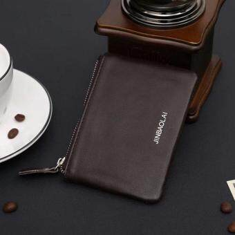Brand Business Genuine Leather wallet for men / women Small Thin Card Holder Slim Wallets Mini Zipper Coin Purse