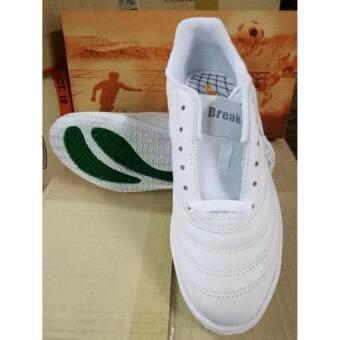 Breaker รองเท้าฟุตซอล รุ่น BK-30 สีขาว