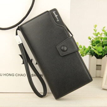 BYT Baellery Korean Style Women Multifunction Big Capacity LeatherZipper Wallet 13848-3 (Black)