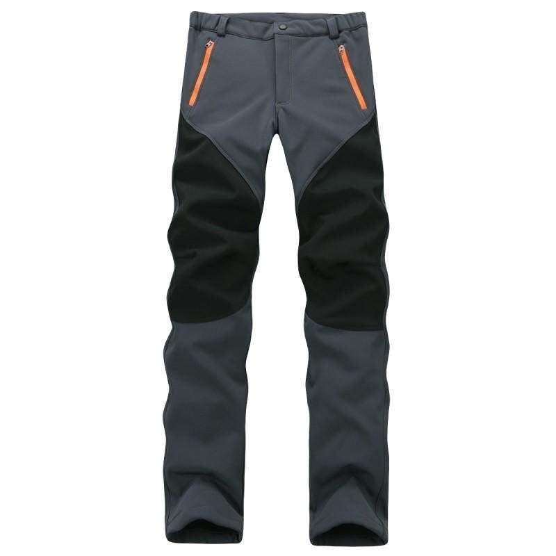 Camping Hiking Winter Outdoor Sport Pants Warm Waterproof Fleece Windproof Fishing Pants Men Women Mountain Climbing (Grey) - intl