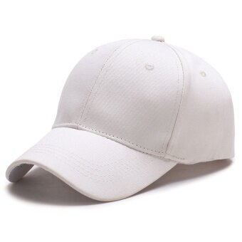 Candy pure color canvas baseball cap ladies leisure travelmountaineering hat - intl