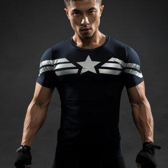 Captain America T Shirt 3D Printed T-shirts Men Avengers Iron ManCivil War Tee Cotton Fitness Clothing Male Crossfit Tops - intl