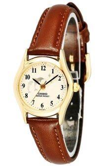 Casio นาฬิกาข้อมือผู้หญิง สายหนัง รุ่น LTP-1094Q-7B9RDF - Brown/Gold