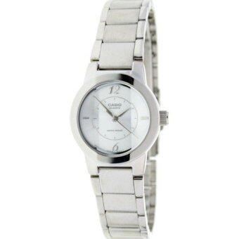 Casio นาฬิกาสำหรับผู้หญิง LTP-1230D-7 สายสแตนเลสสีเงิน