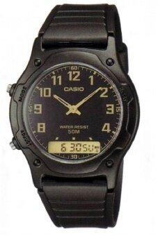 ต้องการขาย Casio Standard Analog-Digital นาฬิกาผู้ชาย สายเรซิ่น รุ่น AW-49H-1B - Black