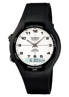 ต้องการขาย Casio Standard นาฬิกาข้อมือผู้ชาย สีดำ สายเรซิ่น รุ่น AW-90H-7BV